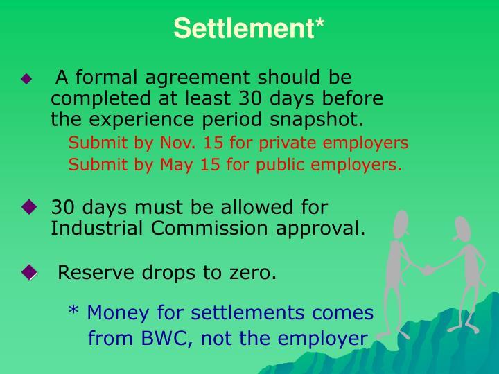 Settlement*