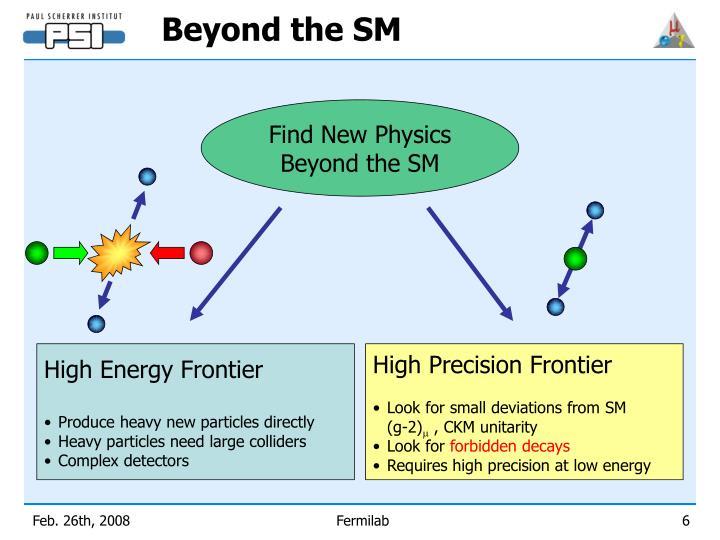 High Energy Frontier