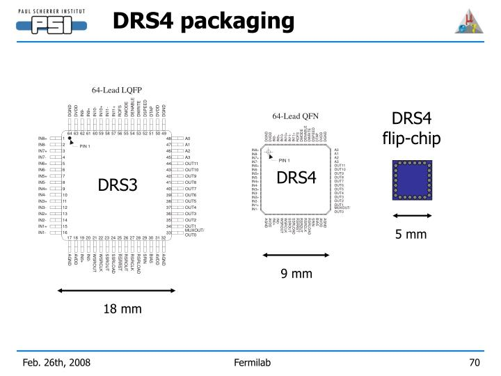 DRS4 packaging