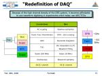 redefinition of daq