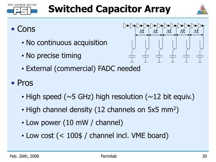 Switched Capacitor Array