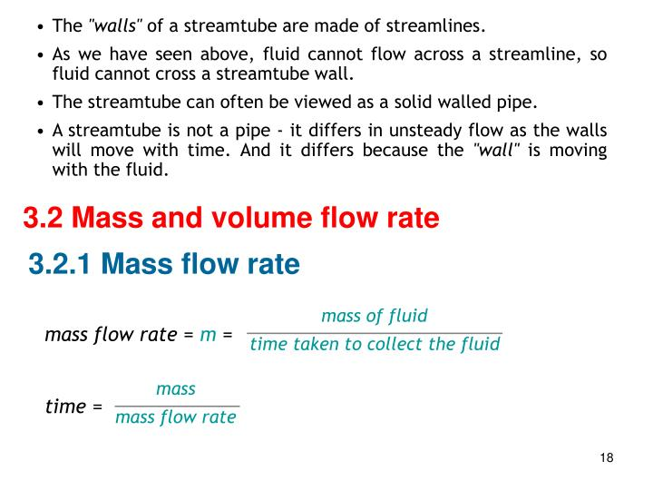 mass of fluid