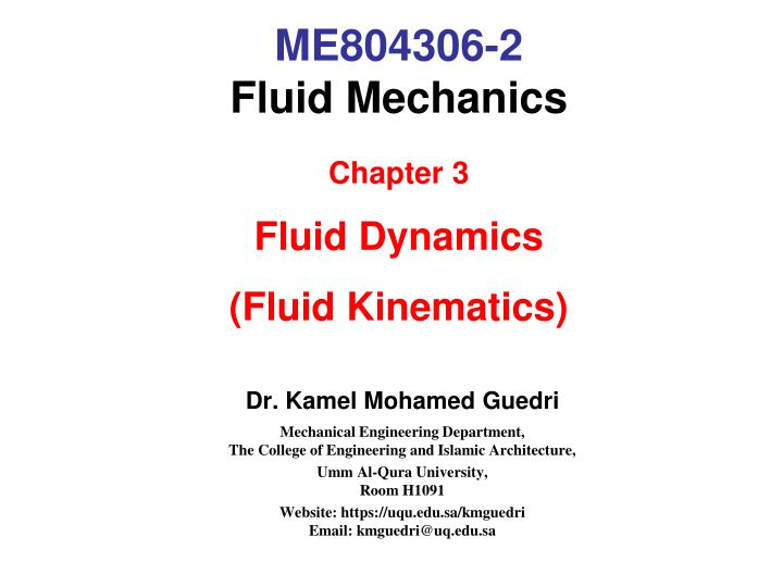 Me804306 2 fluid mechanics