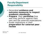 faculty department responsibility1