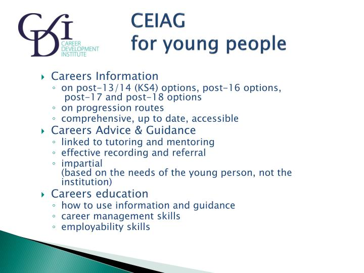 Ceiag for young people