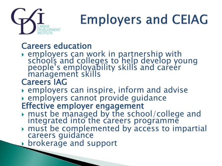 Employers and CEIAG
