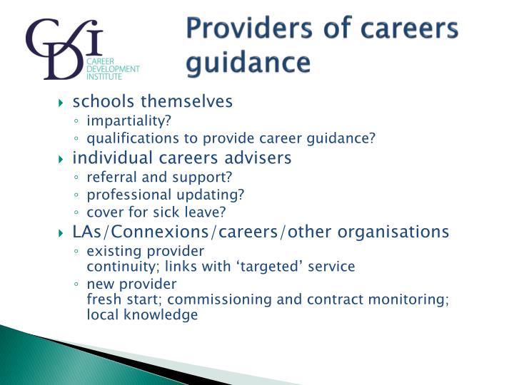Providers of careers