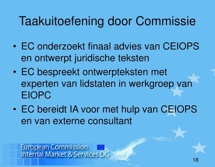 Taakuitoefening door Commissie