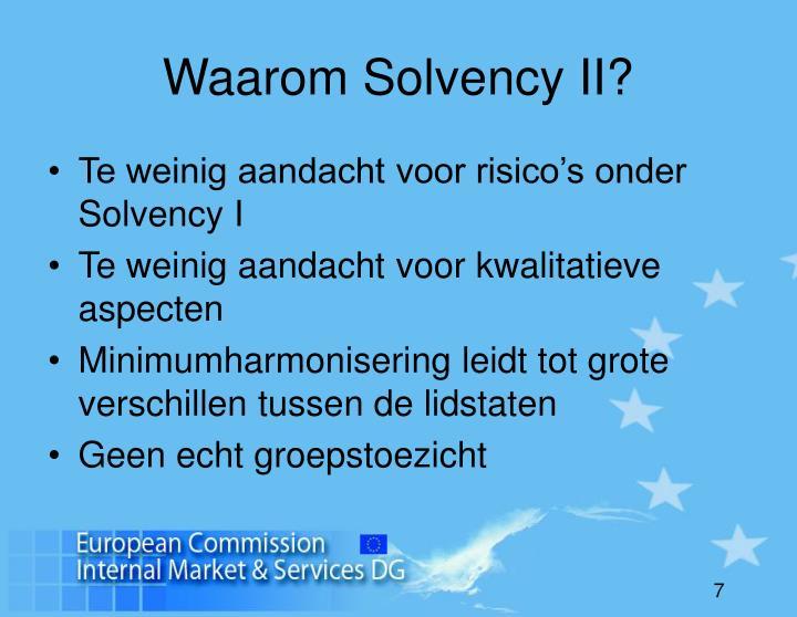 Waarom Solvency II?