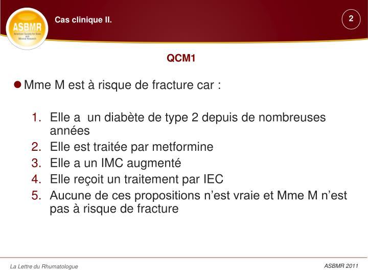 Cas clinique II.