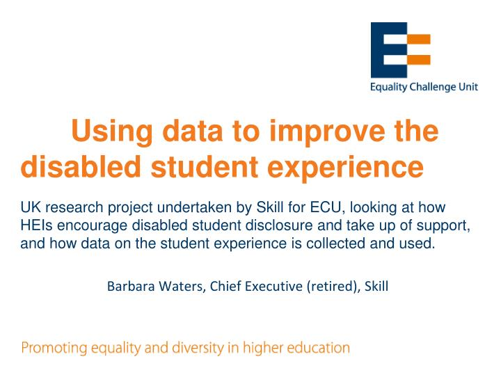 Using data to improve the disabled student experience