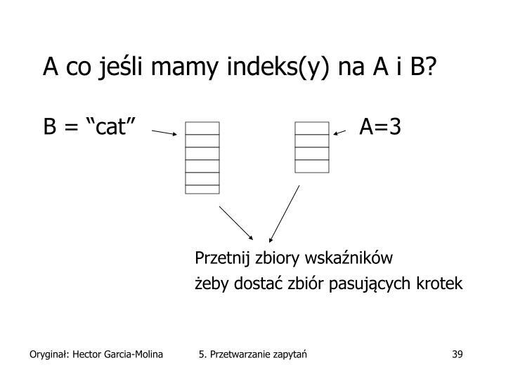 A co jeśli mamy indeks(y) na A i B?