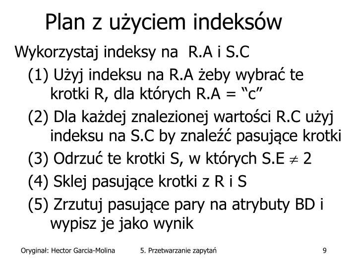 Plan z użyciem indeksów