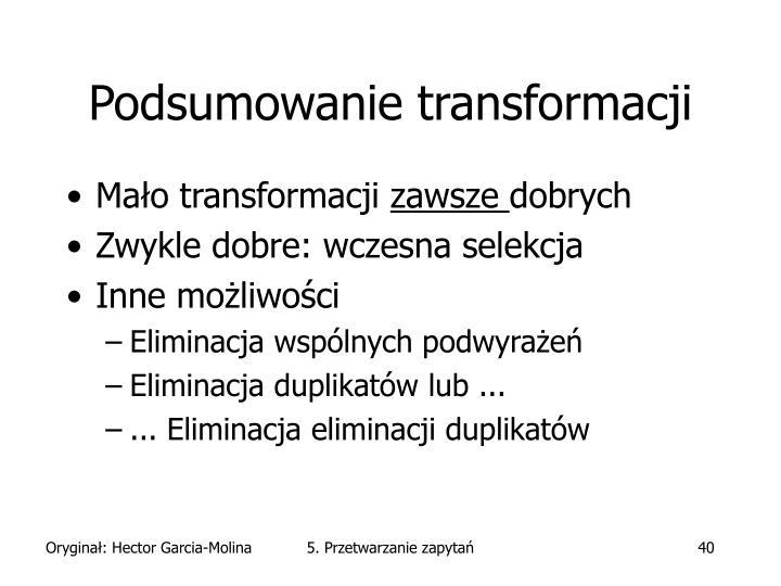 Podsumowanie transformacji