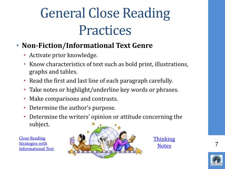 General Close Reading Practices