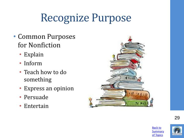 Recognize Purpose