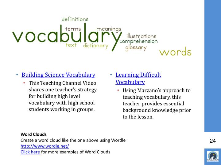 Building Science Vocabulary