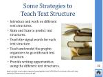 some strategies to teach text structure