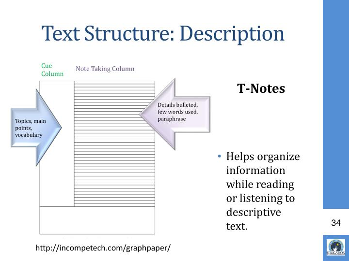 Text Structure: Description