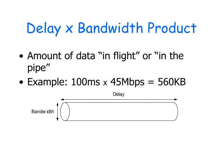 Delay x Bandwidth Product