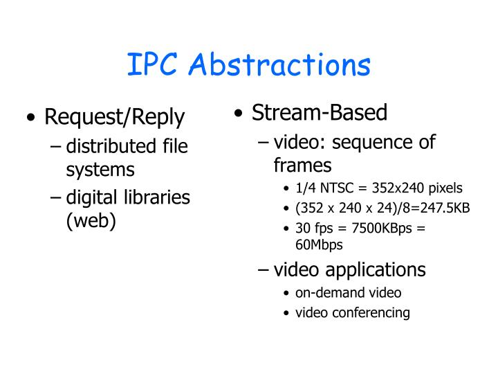 IPC Abstractions