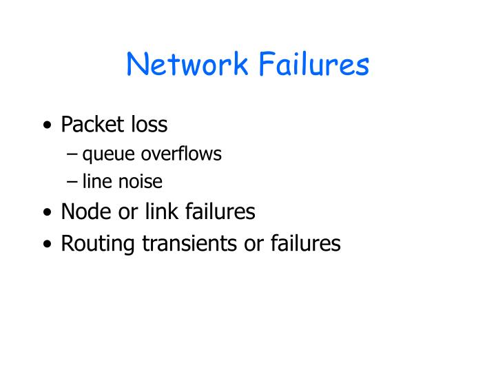 Network Failures