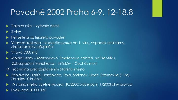 Povodně 2002 Praha 6-9, 12-18.8