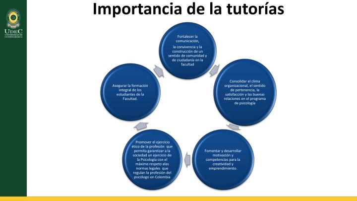 Importancia de la tutorías