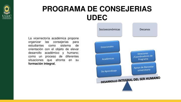 PROGRAMA DE CONSEJERIAS UDEC