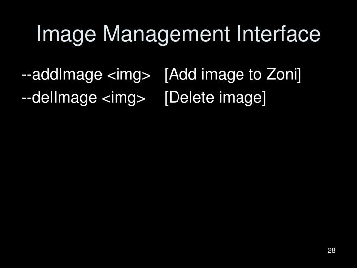 Image Management Interface