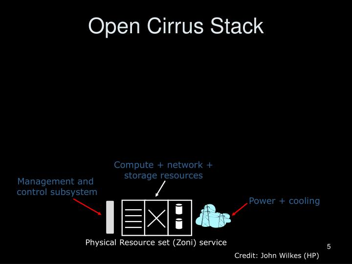 Open Cirrus Stack