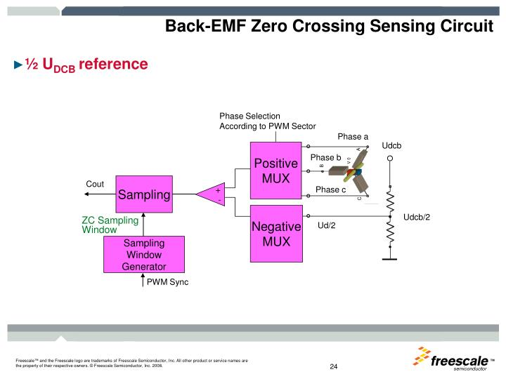 Back-EMF Zero Crossing Sensing Circuit
