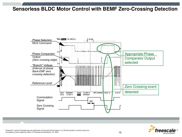 Sensorless BLDC Motor Control with BEMF Zero-Crossing Detection