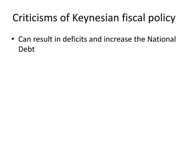 Criticisms of Keynesian fiscal policy