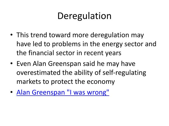 Deregulation