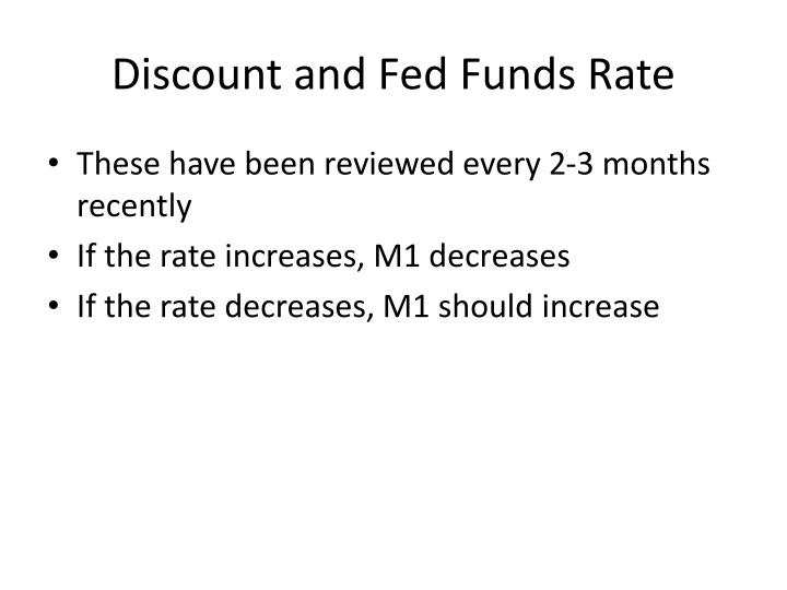 Discount and Fed Funds Rate