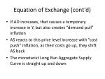 equation of exchange cont d