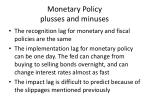 monetary policy plusses and minuses