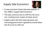supply side economics