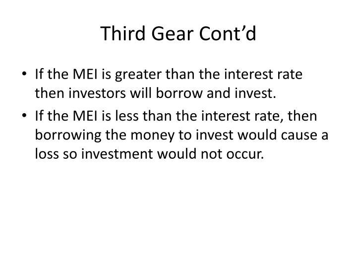 Third Gear Cont'd
