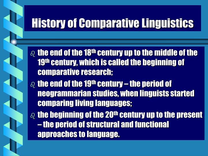 History of Comparative Linguistics