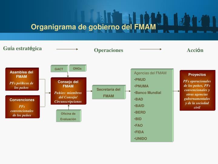 Organigrama de gobierno del FMAM