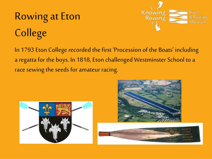 Rowing at Eton