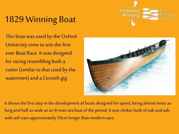 1829 Winning Boat