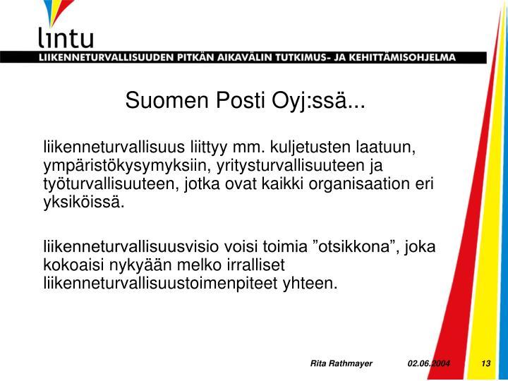 Suomen Posti Oyj:ssä...
