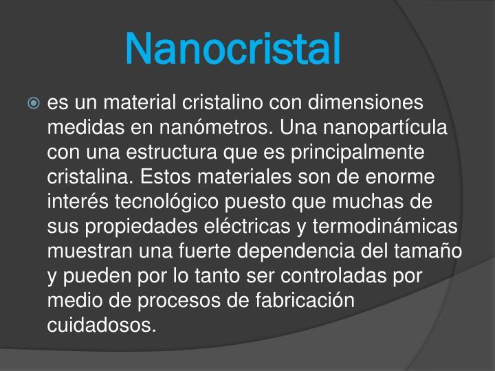 Nanocristal