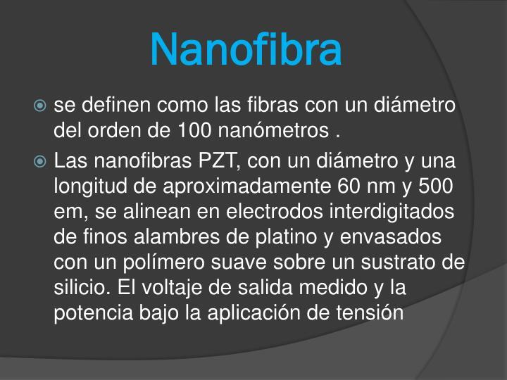 Nanofibra