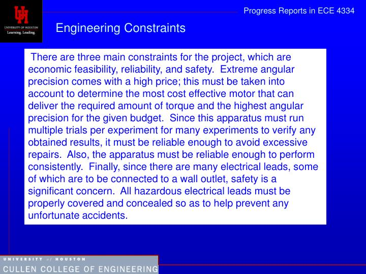 Engineering Constraints
