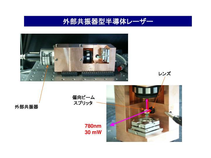 外部共振器型半導体レーザー