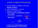 limits of optical microscopy